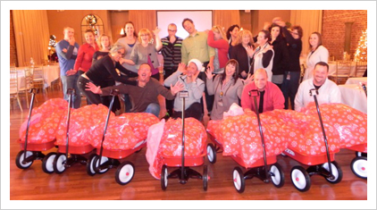 red wagon charity teambuilding