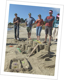 event sand castle building team building